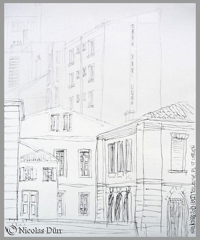 Place St Cyprien à Toulouse