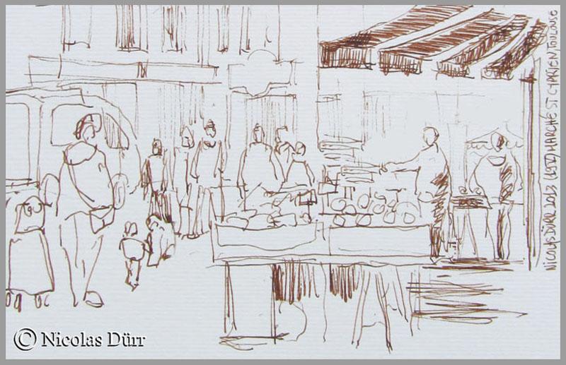 Le marché St Cyprien à Toulouse (1)