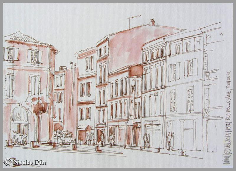 La rue Réclusane à Toulouse