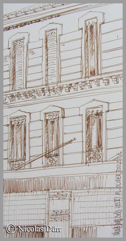 Une façade de la rue Réclusane