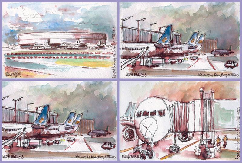 Les aéroports du départ