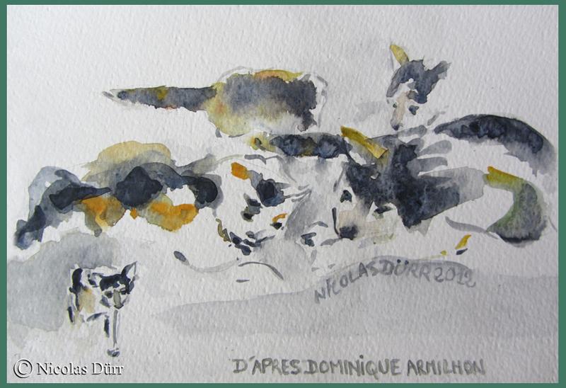 En hommage à l'excellent dessinateur, aquarelliste et peintre qu'était Dominique Armilhon, que je n'ai malheureusement pas eu la chance de connaitre