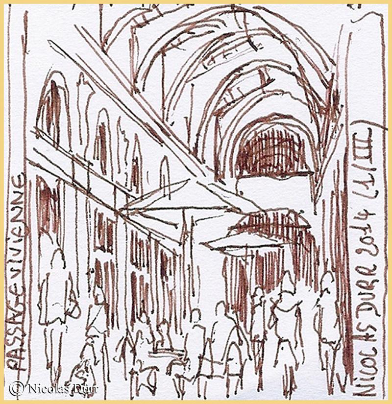 la galerie en direction des Grands Boulevards
