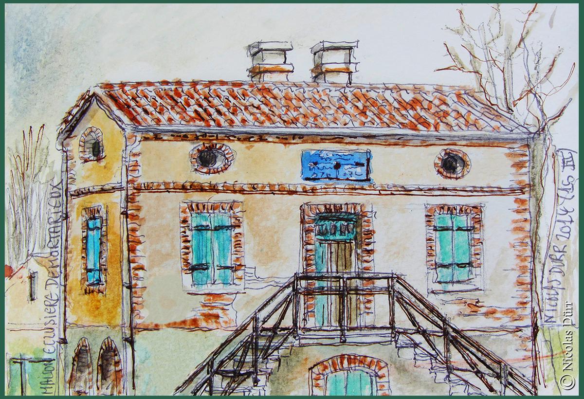 Le bâtiment de l'écluse de Mortarieu (2)