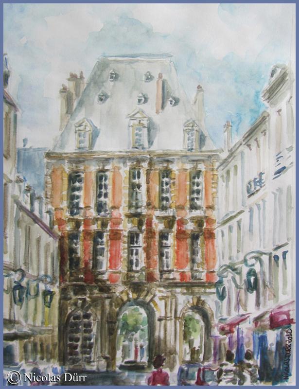 Paris 4e, rue de Birague