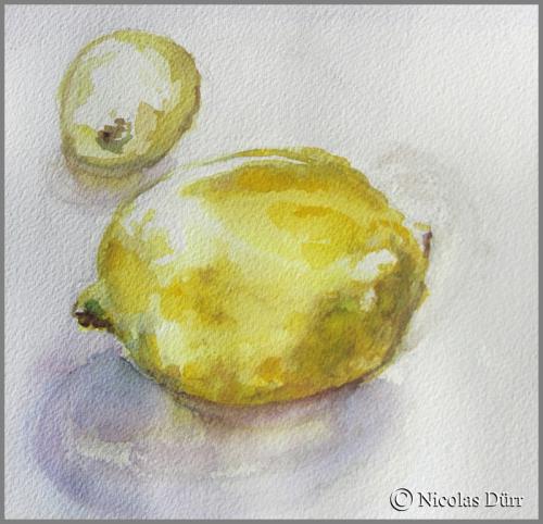Citrons en aquarelle