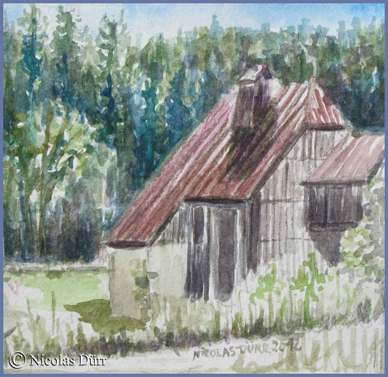 Imposante toiture d'une ferme comptoise