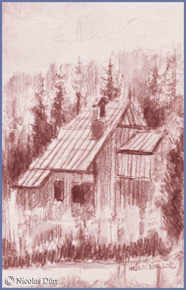 Ferme comtoise et son imposante toiture