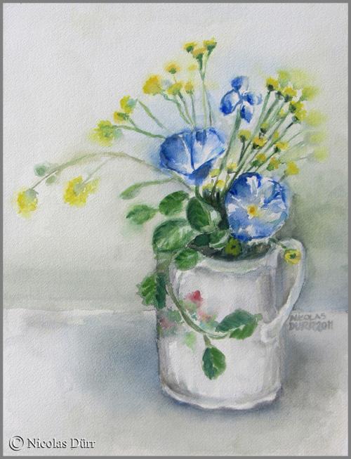 Fleurs en aquarelle