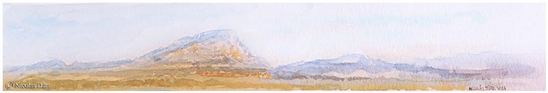 La Montagne Sainte Victoire depuis Ventabren (2)