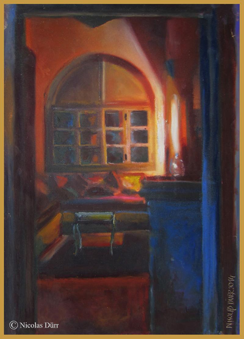 Endroit plus intimiste pour lire les diverses revues, et les nombreux ouvrages artistique et littéraires que l'on peut trouver au riad Sahara Nour.