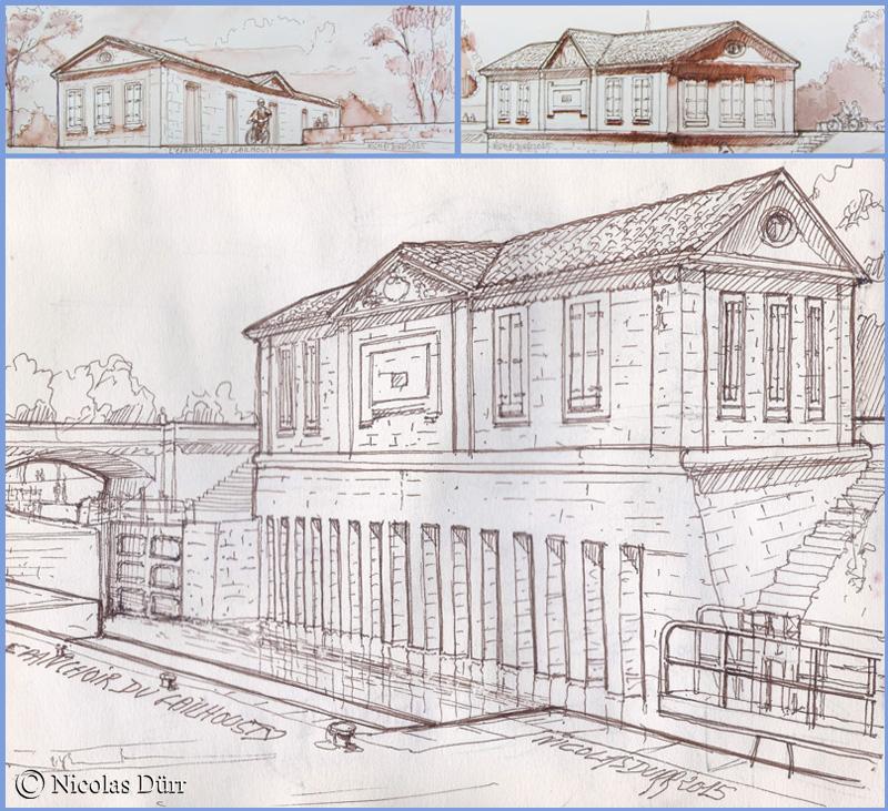 Les façades du batiment de l'épanchoir, mai 2015