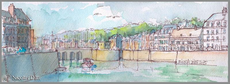 St Valery en Caux depuis l'entrée du port