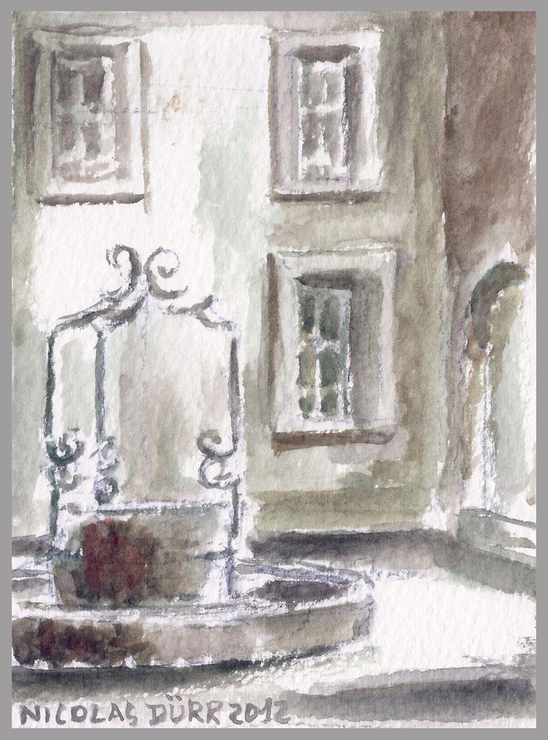 2012-aquarelles-aubrac-vue-10-st-geniez-d-olt-ancien-hospice