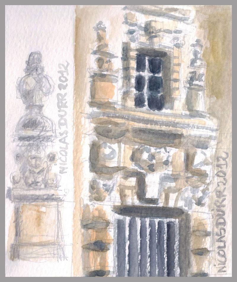 2012-aquarelles-aubrac-vue-11-st-geniez-d-olt-detail-architecturaux