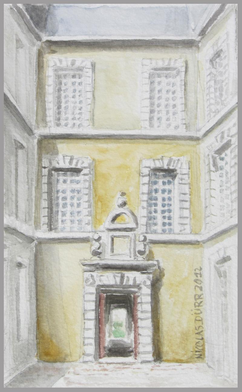 2012-aquarelles-aubrac-vue-12-st-geniez-d-olt-chateau-de-ricard
