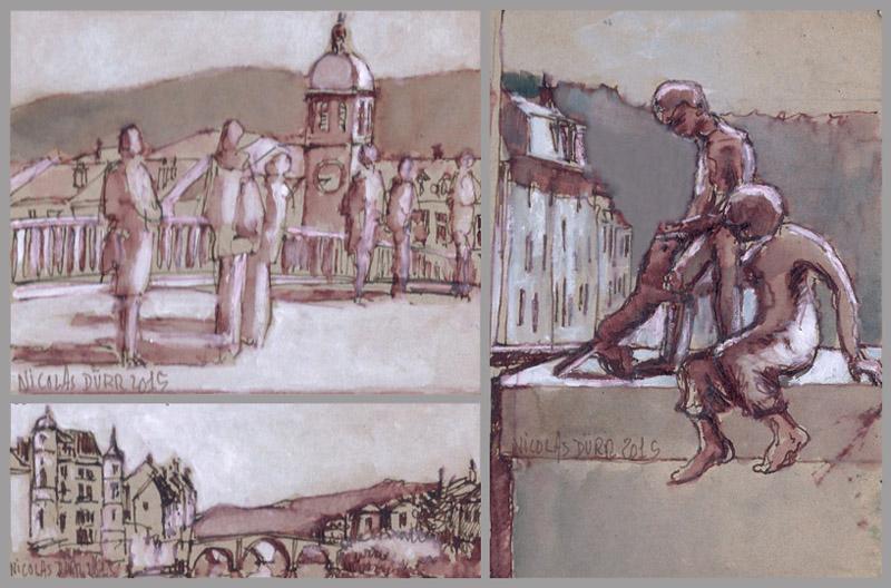 3 vue de St Geniez d'Olt dont celle des Marmots