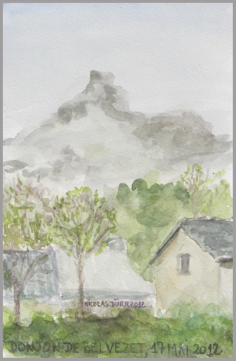 2012-aquarelles-aubrac-vue-2-d-donjon-de-belvezet