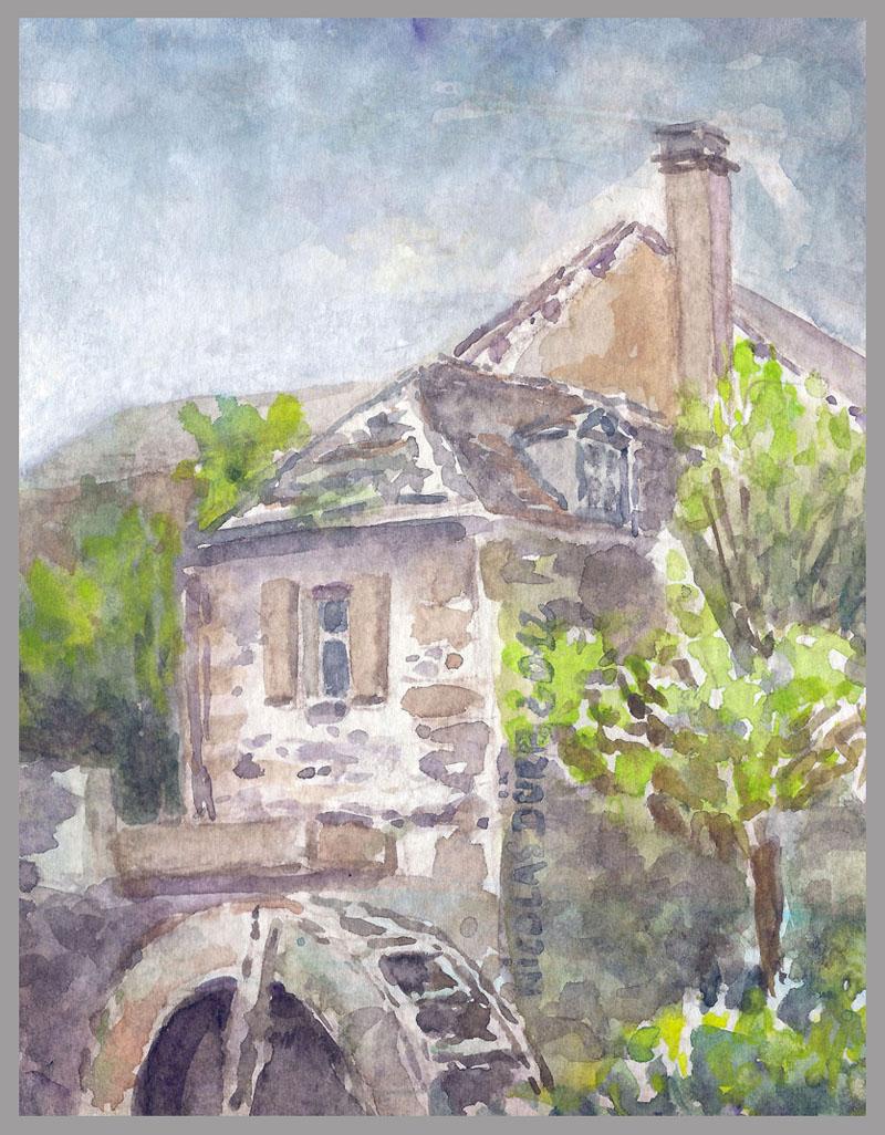 2012-aquarelles-aubrac-vue-4-st-eulalie-d-olt