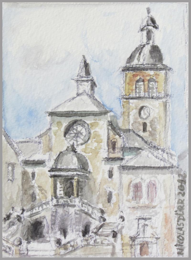 2012-aquarelles-aubrac-vue-8-st-geniez-d-olt-eglise