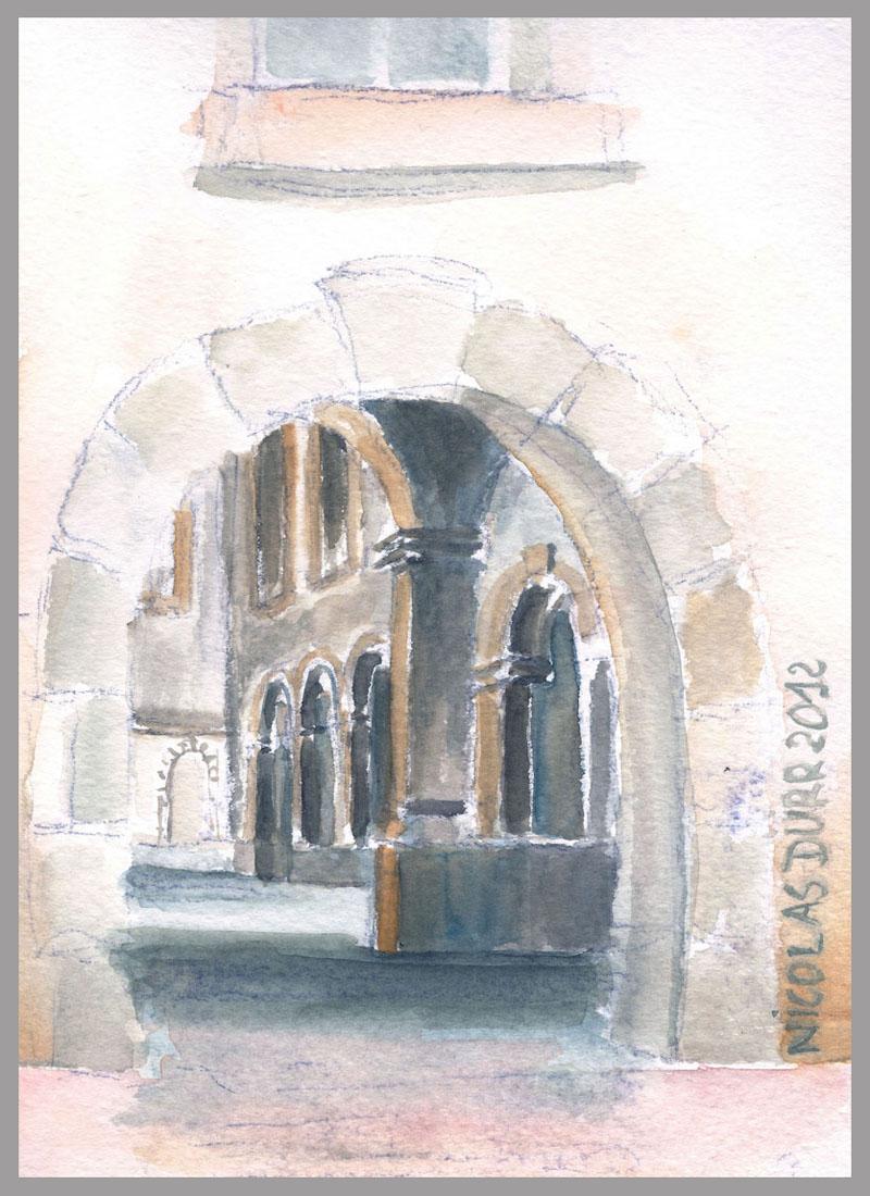 2012-aquarelles-aubrac-vue-9-st-geniez-d-olt-ancien-hospice