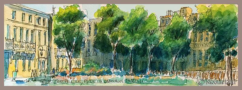 Montpellier, place de la Canourgue (1), 29 mai 2016