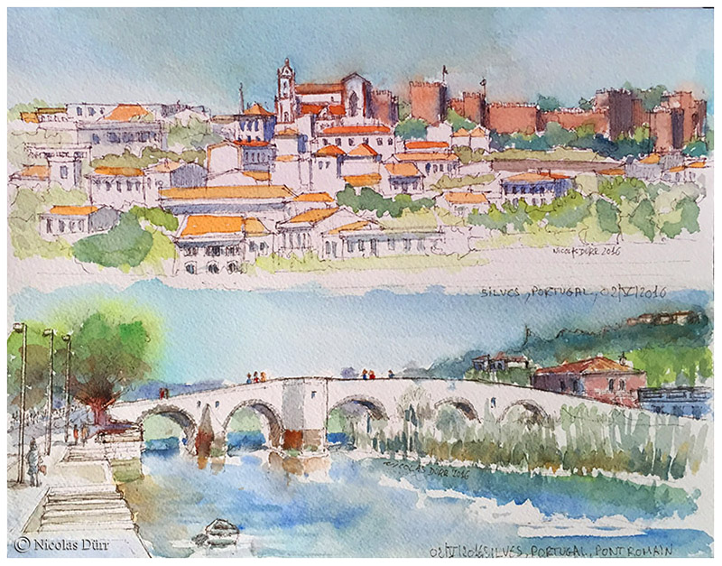 Silves, au Portugal, et son pont romain